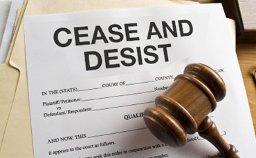 James Duhon cease and desist